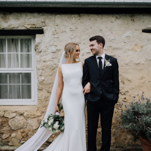 bride and groom get married at ellensbrook homestead margaret river